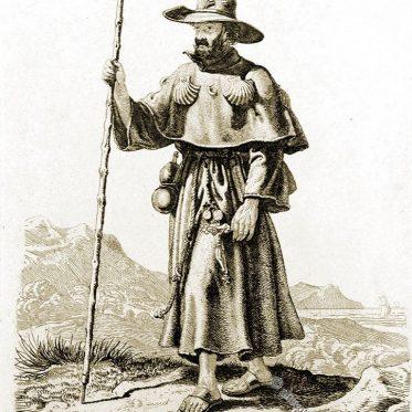 Ein spanischer Pilger um 1820.