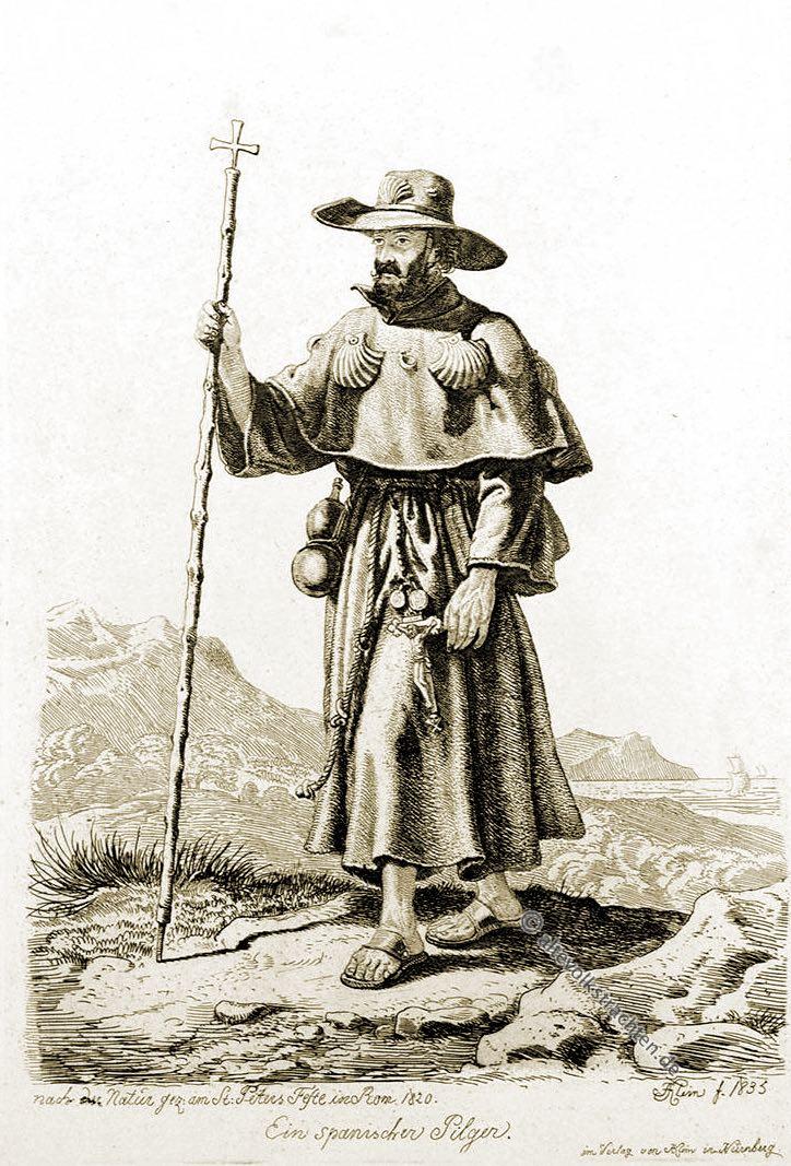 Pilger, Rom, Kutte, Pilgerreise, 19. Jahrhundert,