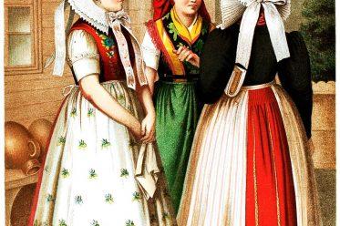 Trachten, Preussen, Spreewald, Spreewälderinnen, Wenden, Sorben, Kleidung, Albert Kretschmer