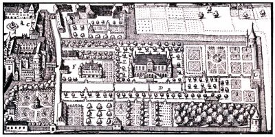 Stuttgart, Schloßgarten, Merian, Stadtplan, Barock, Kupferstich