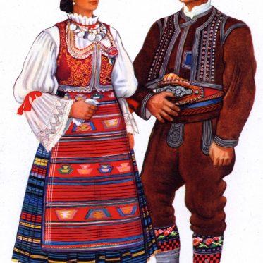 Šumadinci. Serbische Trachten aus Šumadij.