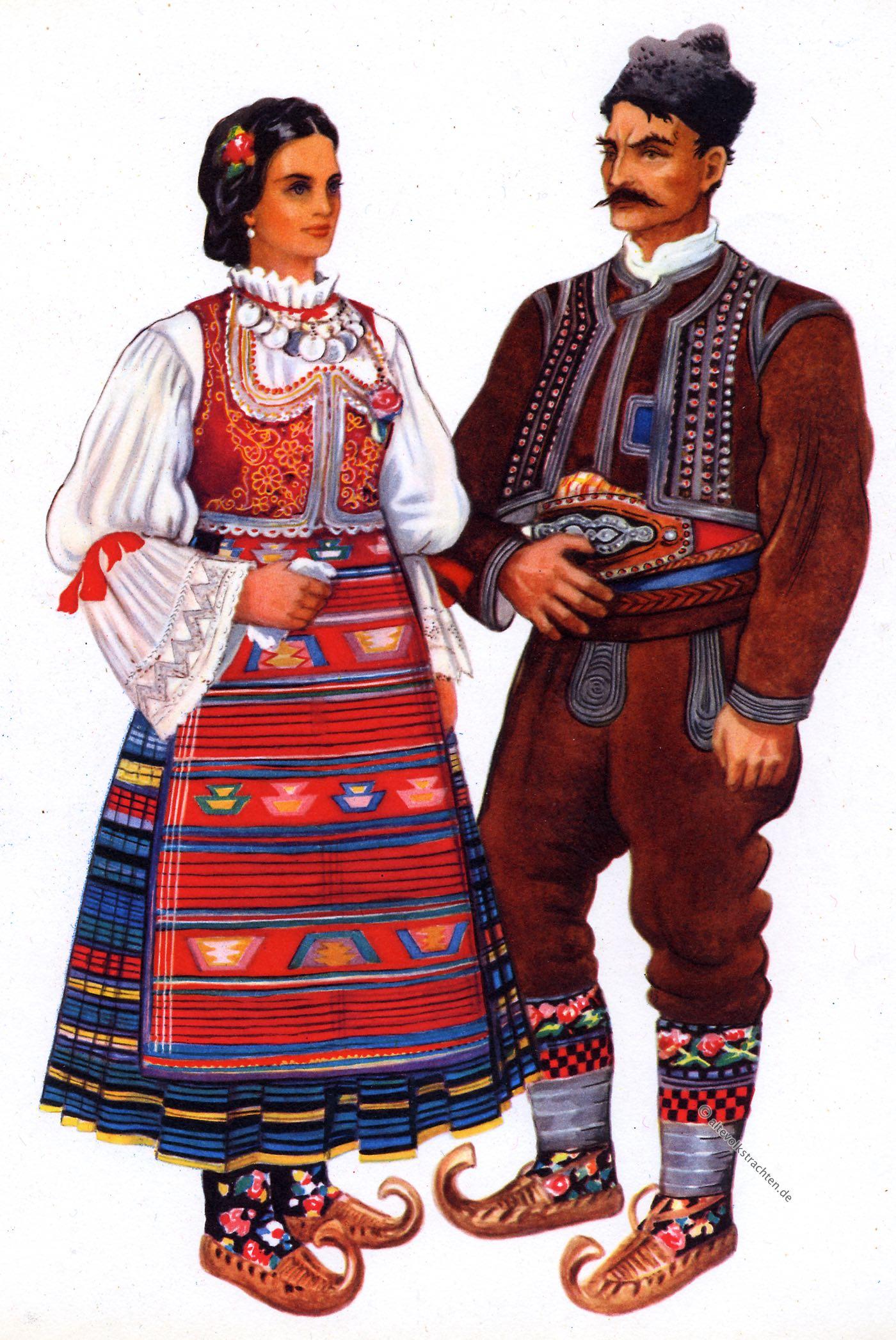 Šumadij, Trachten, Serben, Serbien Vladimir, Kirin, Srpske, nacionalne, kostime,