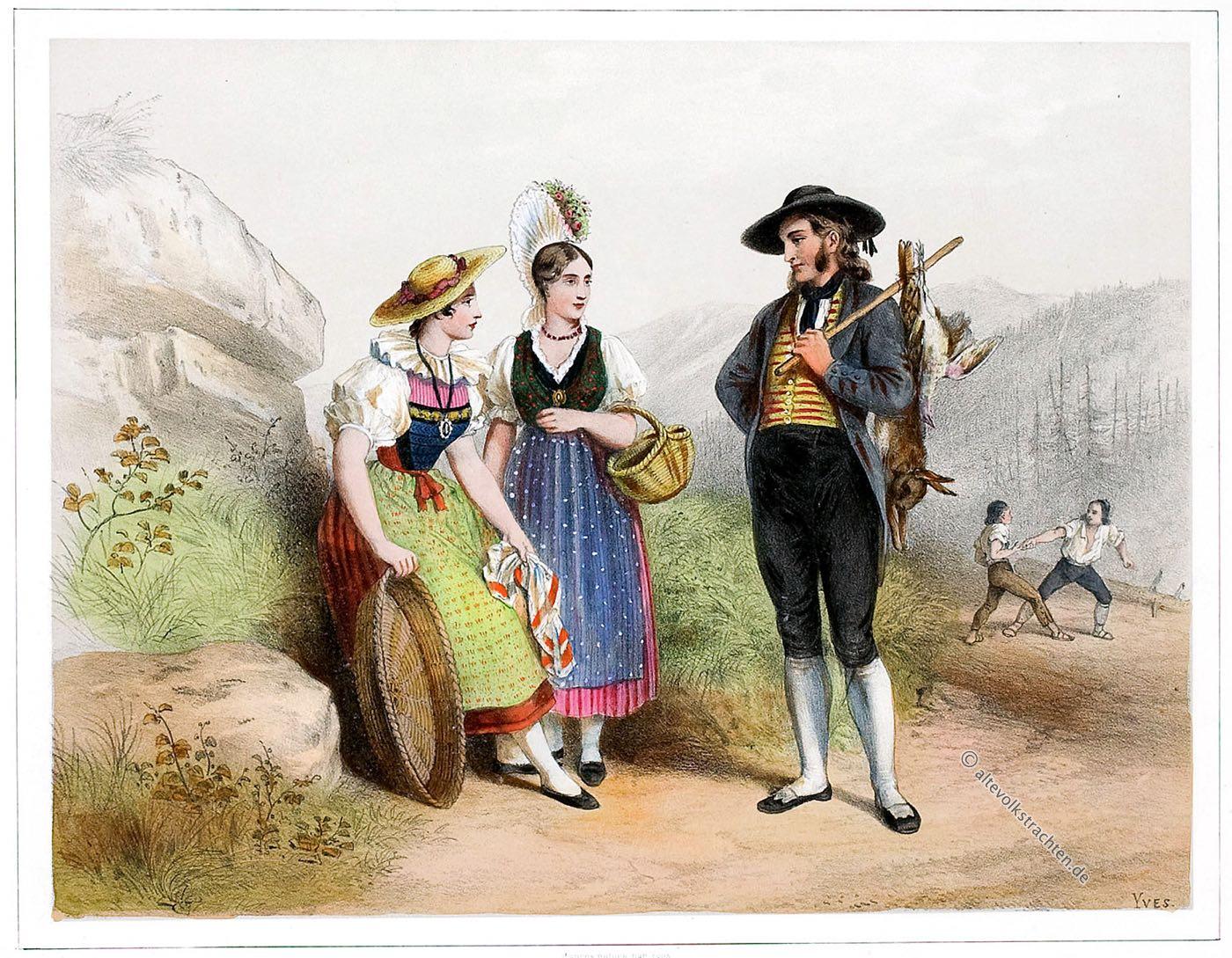 Trachten, Luzern, Schwyz, Kleidung, Schweiz, Costumes, Suisses,