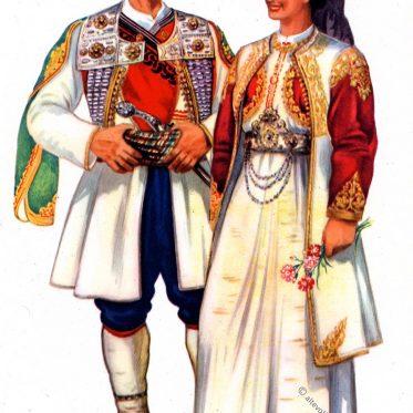 Montenegrinisches Paar aus Cetinje.