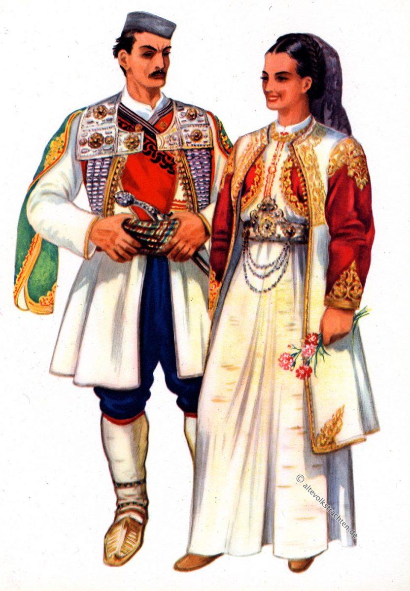 Kleidung, Cetinje, Montenegro, Vladimir Kirin, Trachten, Balkan, Serbien