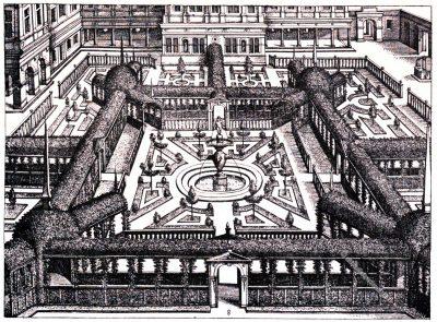 Vredeman, Gartenentwurf, Kupferstich, Hans Vredeman de Vries, Renaissance,