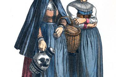 Westfalen, Kleidung, Trachten, Dülmen, Friedrich Hottenroth, Kostümgeschichte, Barock
