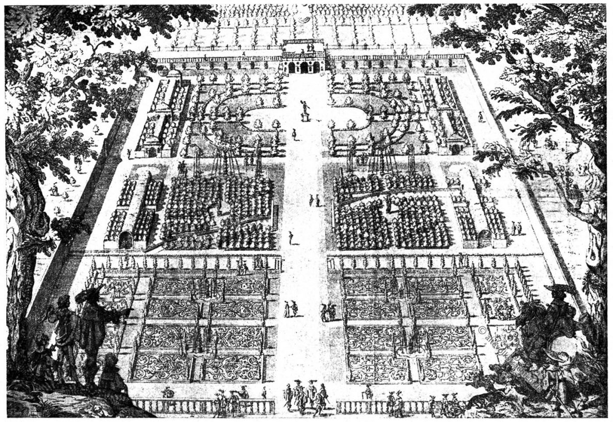 Wilton, Schloßgarten, Renaissance, Kupferstich, Issac de Caus, Hortus Penbrochianus, Renaissance, Lustgarten
