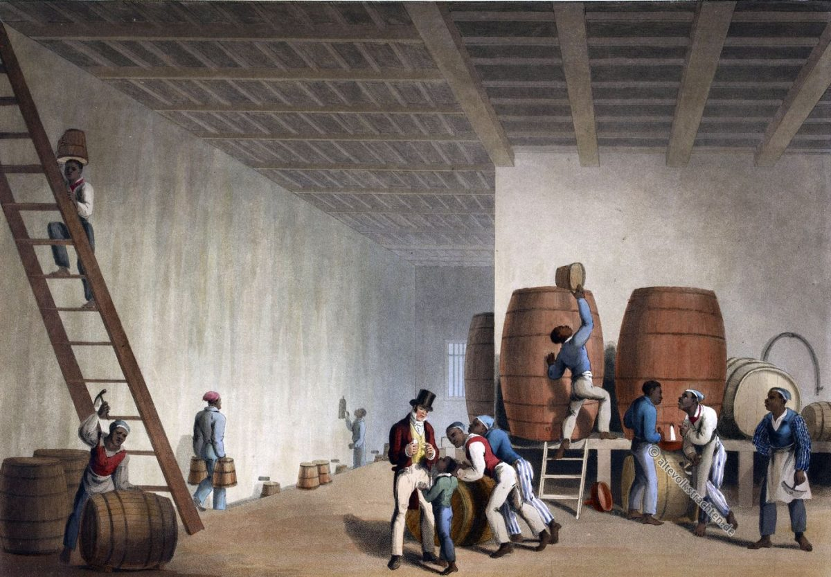Destillerie, Zuckerrohr, Raffinerie, Sklaven, Plantage, Antigua, Kolonialismus, Bermudas, Karibik, William Clark