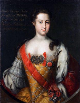 Russland, Anna Leopoldovna, Elżbieta Katarzyna Krystyna, Großherzogin, Johann Heinrich Wedekind, portät, Rococo