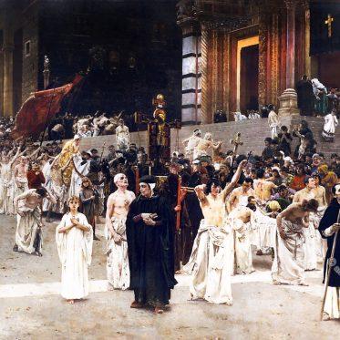 Die ersten christlichen Pönitenten und Flagellanten.