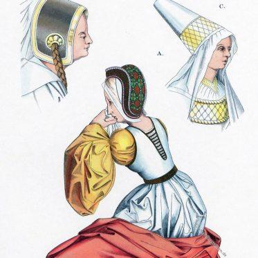 Hennin. Die Flandrische- oder burgundische Haube.