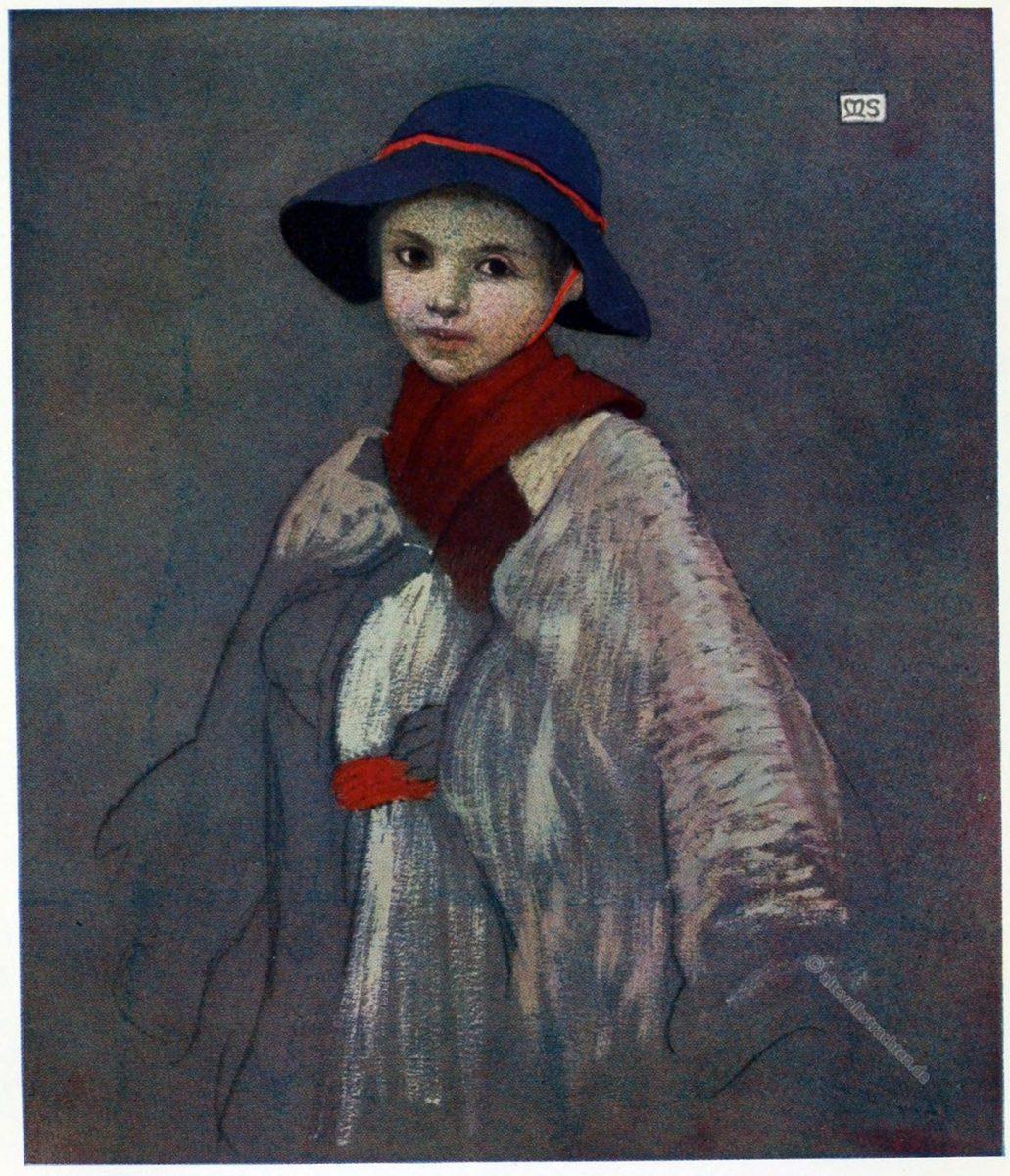 Marianne Stokes, Hirtenjunge, Tracht, Baia Sprie, Rumänien, Nationaltracht, Felsöbánya, Shepherd-boy