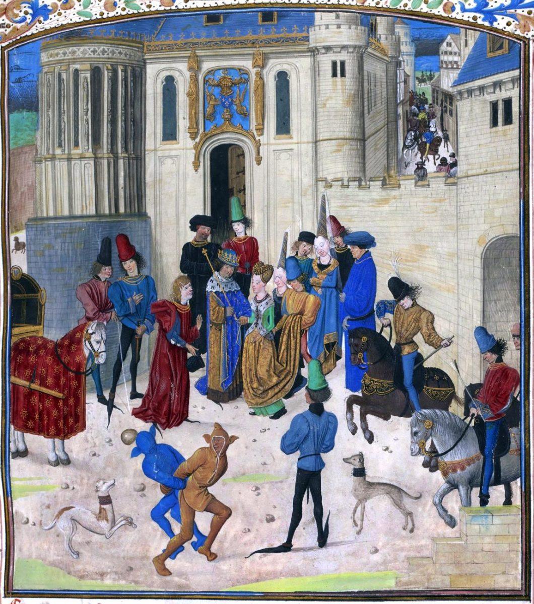 Isabella, Bayern, Jean Froissart, Königin, Frankreich, Chroniques, Mittelalter, Kostüm, Modegeschichte