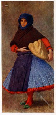Kalocsa, Werktagskleidung, Tracht, Ungarn, Marianne Stokes