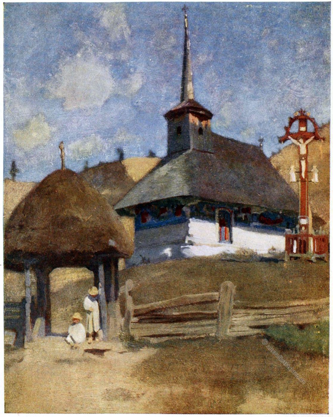 Adrian Scott Stokes, Deseşti, Kirche, Siebenbürgen, Transylvanien, Rumänien, Church, Romania