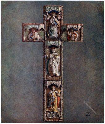 Marianne Stokes , Esztergom, Gran, Ungarn, Messgewand, Chasuble, Cross, embroidered, Hungary