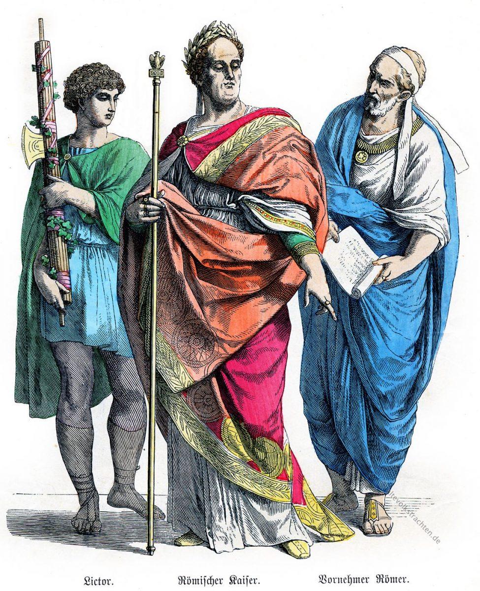 Münchener Bilderbogen, Lictor, römischer Kaiser, Cäsar, Römer, Kleidung, Stola, Tunica, Kostümgeschichte,