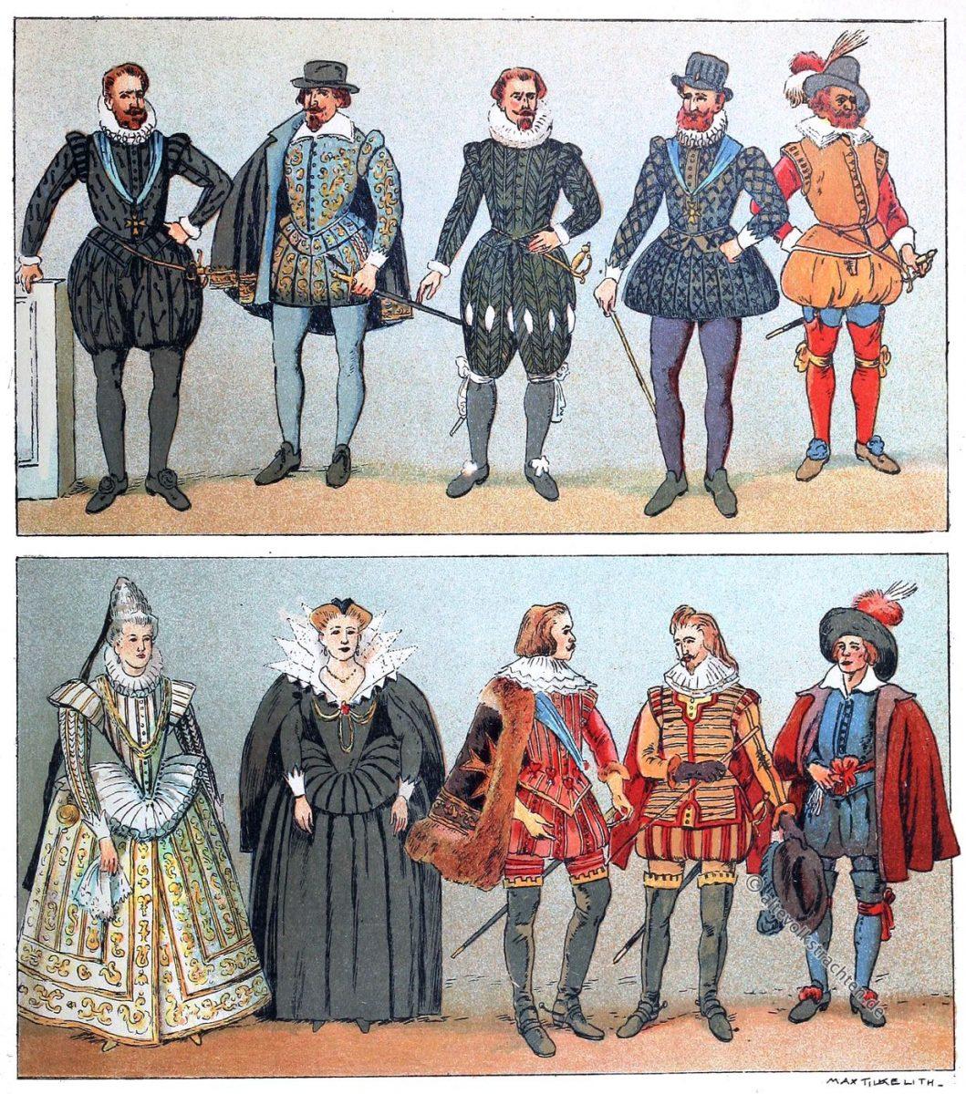 Barock, Mode, Frankreich, 1590, 17. Jahrhundert, Kostümgeschichte, Adolf Rosenberg, Eduard Heyck
