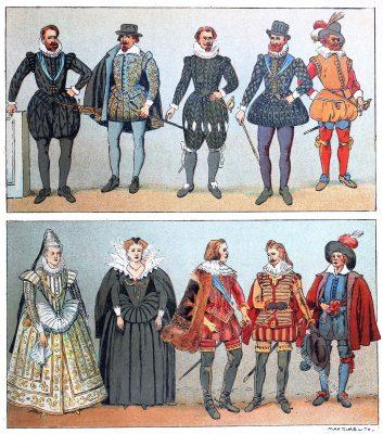 Barock, Mode, Frankreich, 17. Jahrhundert, Kostümgeschichte, Adolf Rosenberg, Eduard Heyck