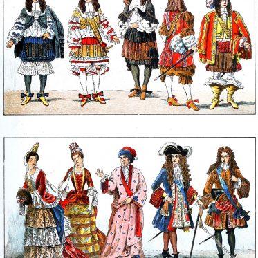 Die französische Mode von 1660 bis 1700 am Hof von Versailles.