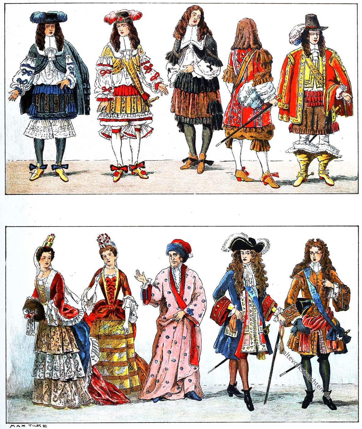 Mode, Ludwig, XIV, Frankreich, Barock, Kostümgeschichte, Adolf Rosenberg, Eduard Heyck,