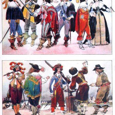 Französische Mode 1630 bis 1647.