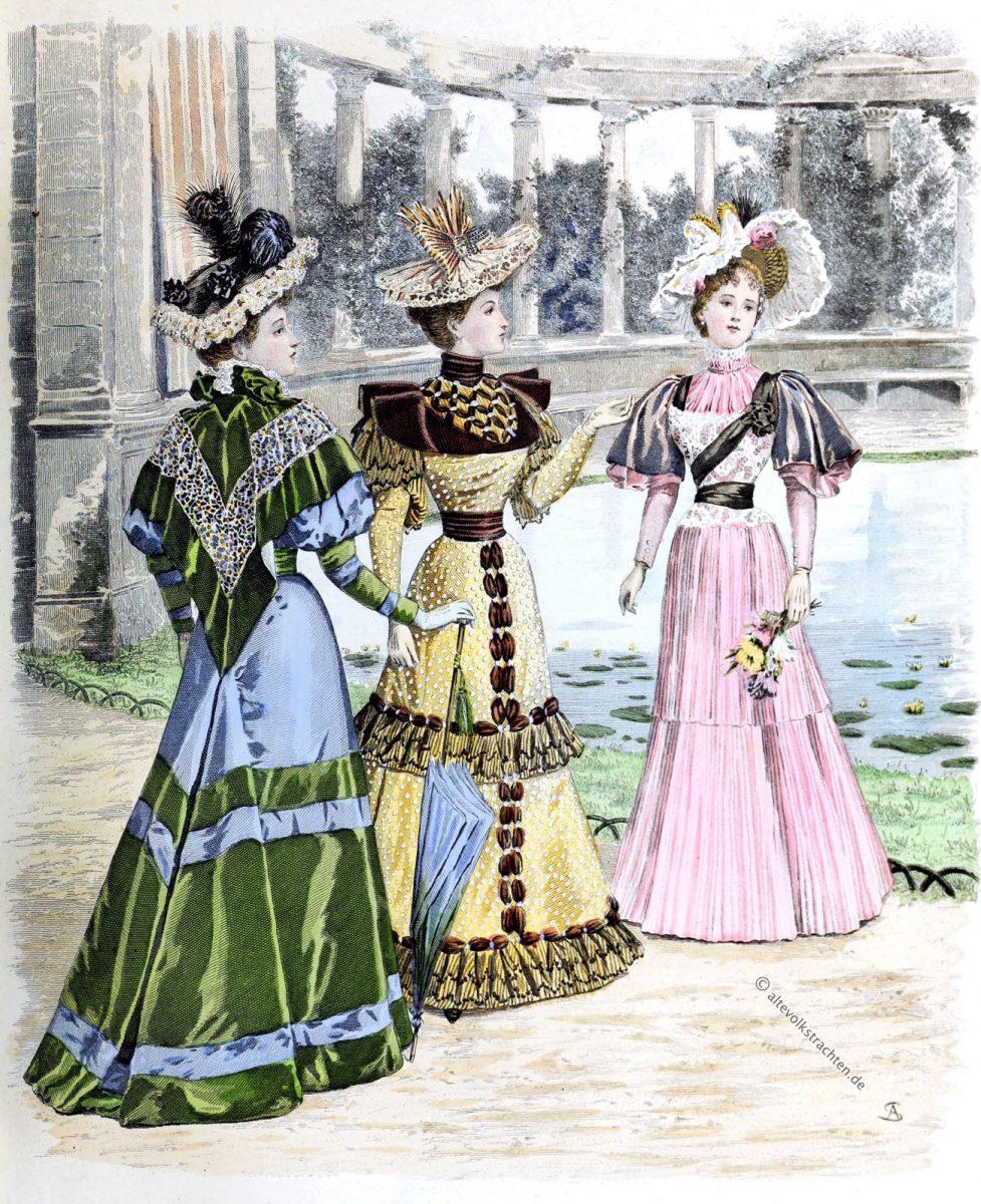Pariser, Mode, Viktorianisch, Jugendstil, Belle Époque, Kostüme, Kostümgeschichte, Modegeschichte, Queen,