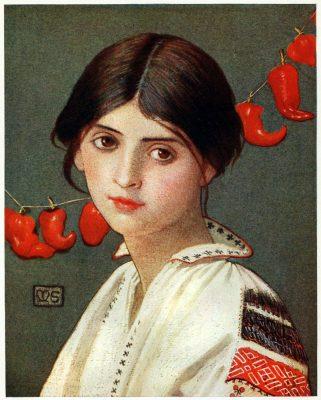 Marianne Stokes, Tracht, Rumänien, Romania, national costume,