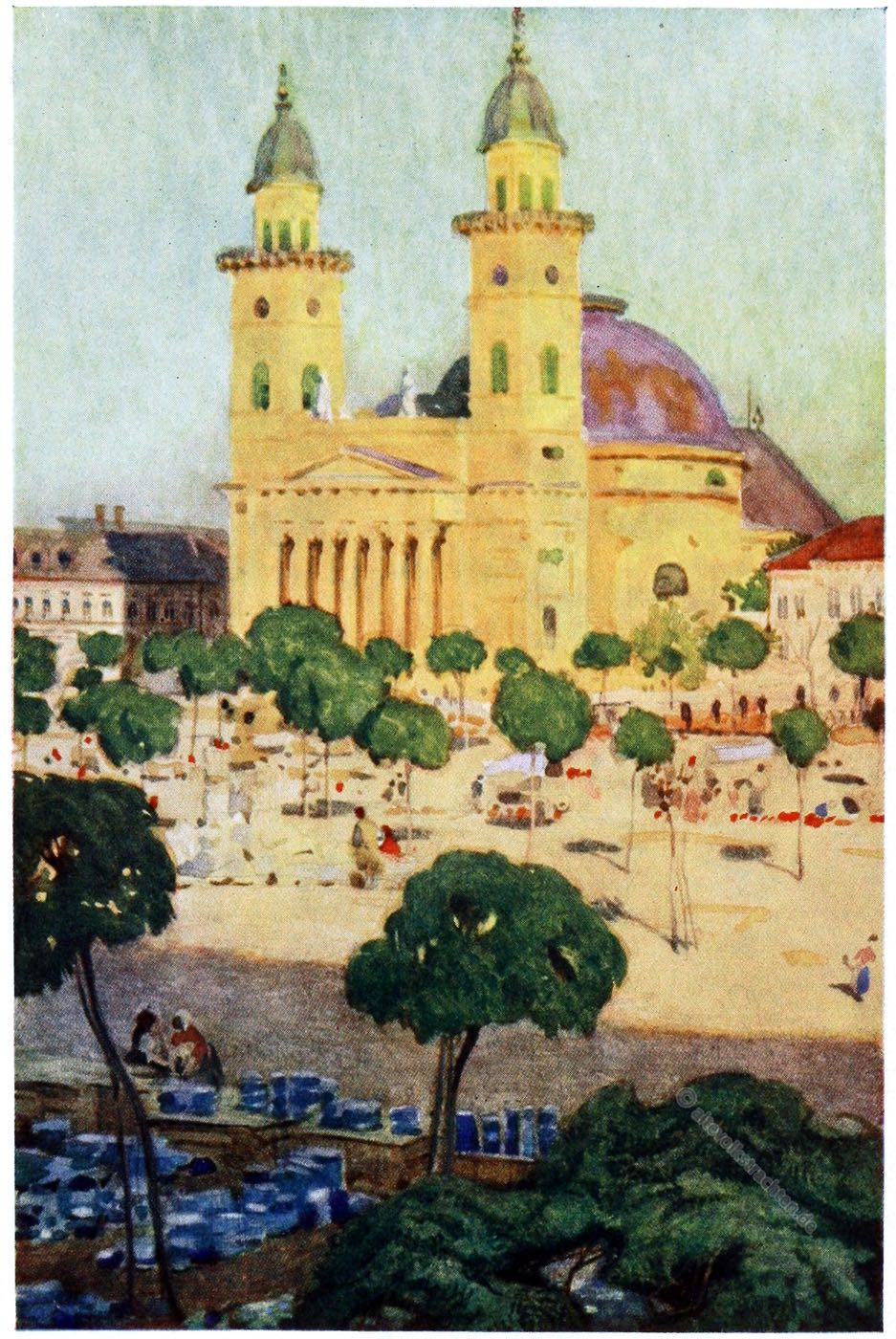 Adrian Scott Stokes, Szatmar, Satu Mare, Rumänien, Cathedral, Kathedrale