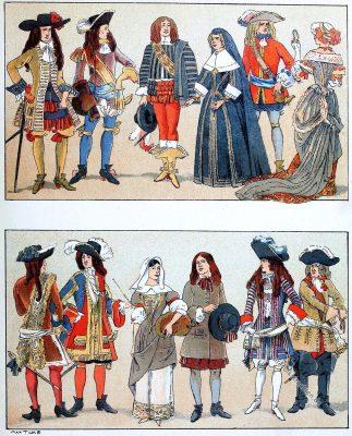 Steenkirk, Frankreich, Barock, Kostüme, Ludwig XIV, Adel, Hoftracht,
