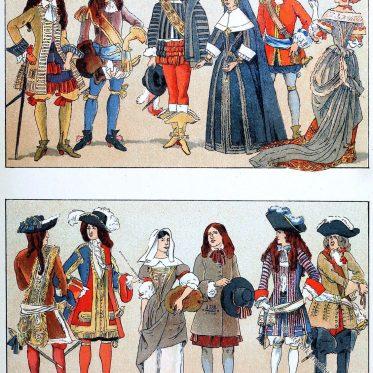 Französische Mode 1650 bis 1700. Der Steenkerke.