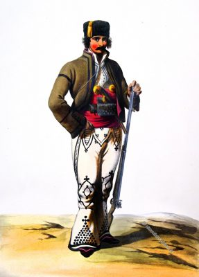 Dorobantz, Tirgovichs, Rumänien, Tracht, Soldat, Uniform, Ange-Louis Janet, Janet-Lange