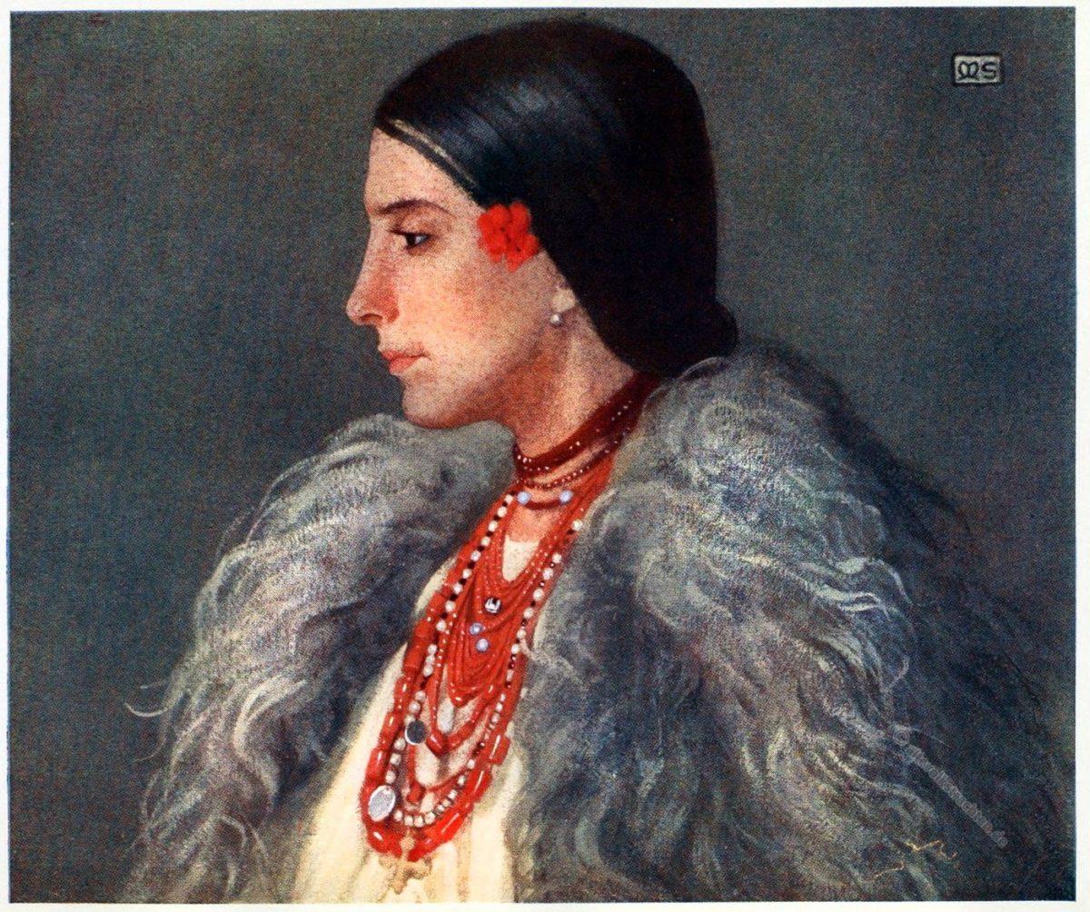 Marianne Stokes, Tracht, Desze, Deseşti, Maramures, Rumänien, Romania, costume, Nationaltracht,