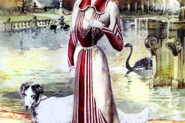 Mode, Belle Époque, Kostüm, QUEEN, Newspaper, Kleidung, Fin de Siècle, Victorian