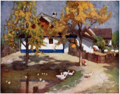 Adrian Scott Stokes, Ždiar, Zsdjar, Zár, Bauernhof, Goralen, Cottage, Tatra, Slowakei, Slovakia