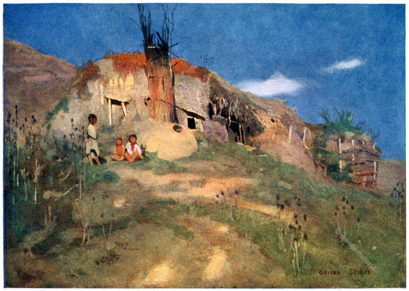 Adrian Scott Stokes, Zigeunerburg, Siebenbürgen, Transsilvanien, Gipsy's Castle, Transylvania, Romania,