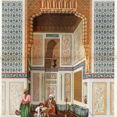 Ägypten. Haupthalle der El Bordeyny-Moschee, Kairo.