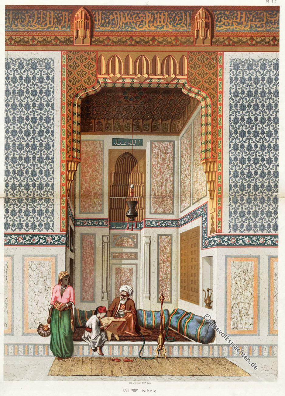 Emile Prisse d Avennes, El Bordeyny-Moschee, Kairo, Ägypten, Arabic Art, Ornamente