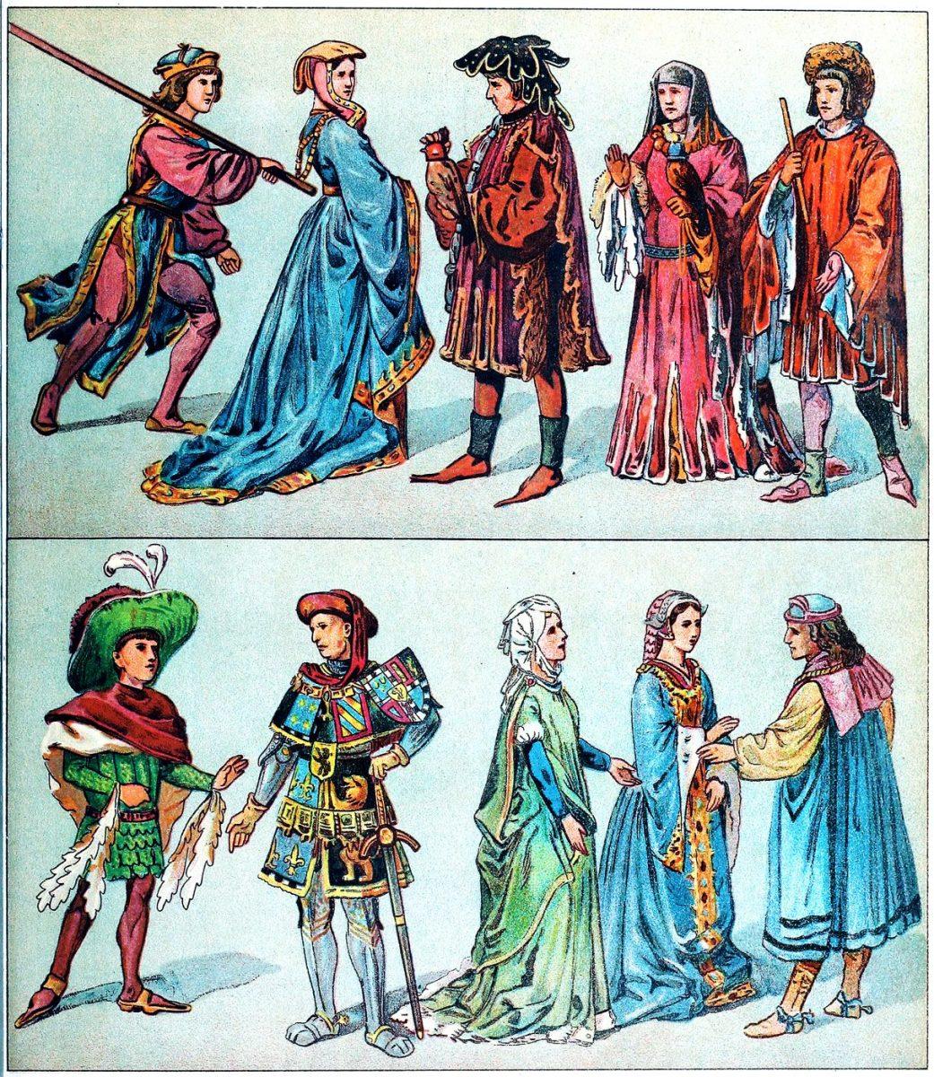 Burgunder, Burgund, Mode, Mittelalter, Gewandung, Gotik, Zaddeln, Hoike, Schecke, Fürsten, Kostüm