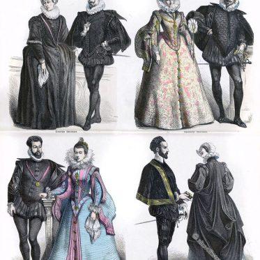 Hoftrachten der Edelleute. Renaissance 16. Jh.
