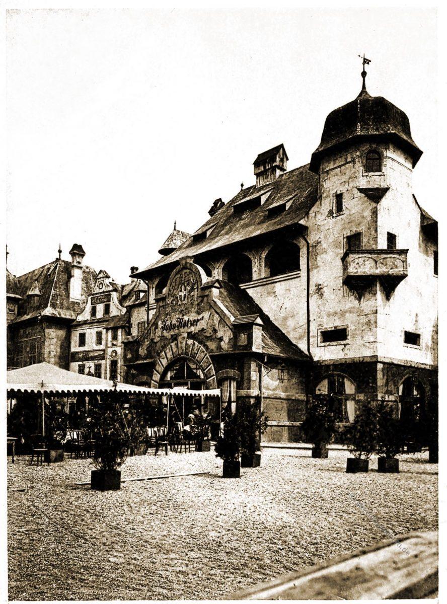 Gasthof, Alt-Wien, Stadt, Wien, Vienna, Columbian Exposition Chicago, Adolph Wittemann,
