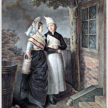Hamburger Metzger und Köchin um 1800