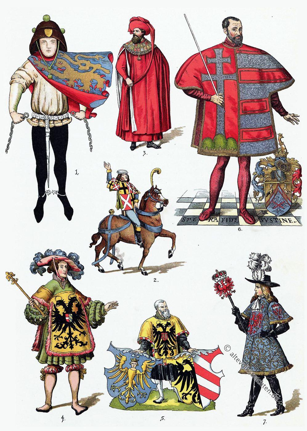 Herolde, Wappen, Heraldik, Heroldswesen, Mittelalter, Kostüme, Bekleidung, Tappert
