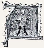 Initiale, Wappenkönig, Herold, Wappen, Wappenbrief, Wappenmantel, Tappert, Heroldstappert, Mittelalter,