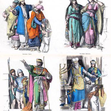 Jüdische Trachten der Antike.