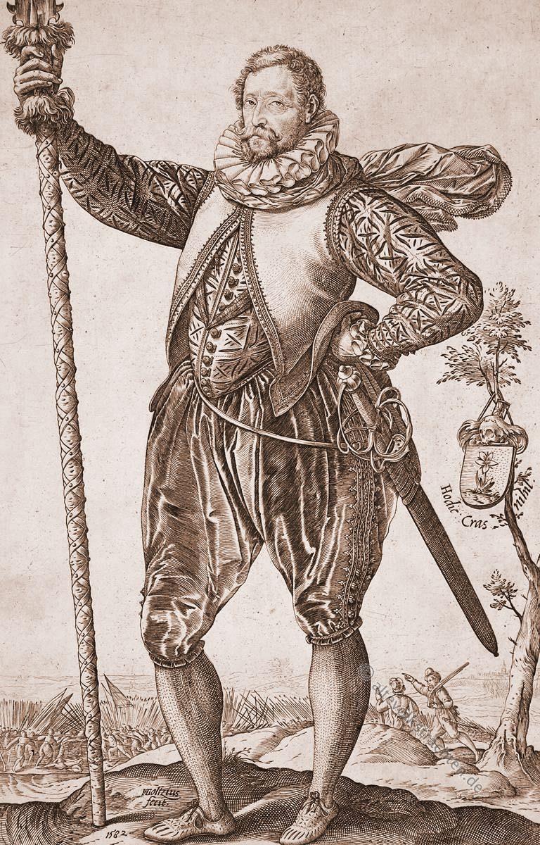 Hendrick Goltzius, Kapitän, Kapitein, Infanterie, Landsknecht, Kostüm