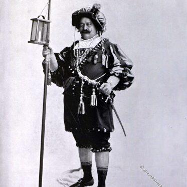 Nachtwächter aus Wien, 19. Jahrhundert.