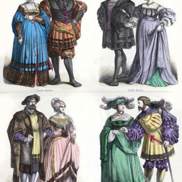 Kleidung deutscher Patrizier in der Renaissance