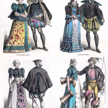 Renaissance Trachten. Edelleute und Bürgertrachten.